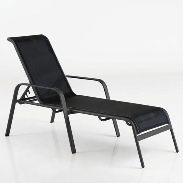 Chaise longue bain de soleil textil ne contemporain for Transat et chaise longue