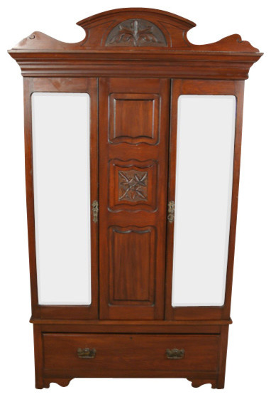 antique victorian walnut wardrobe armoire traditional. Black Bedroom Furniture Sets. Home Design Ideas