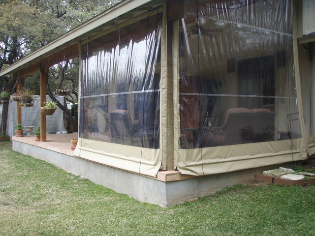 Clear Vinyl Patio Enclosure Weather Curtains Lewis Residential Project Tr