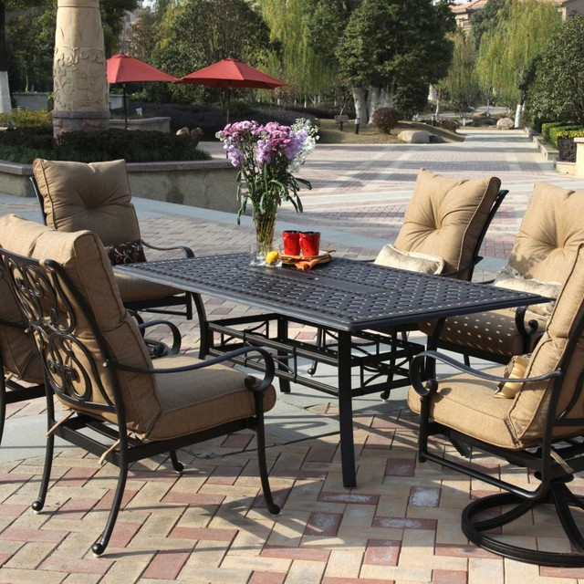 Darlee Santa Anita 6 Person Cast Aluminum Patio Dining Set