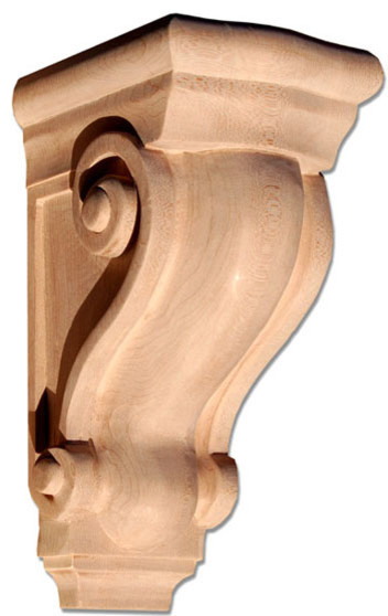 Hilton extra large deep corbel maple traditional for Large exterior corbels