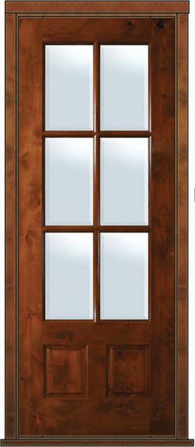 Prehung patio single door 96 alder 2 panel 3 4 lite 6 lite for Single patio door with window