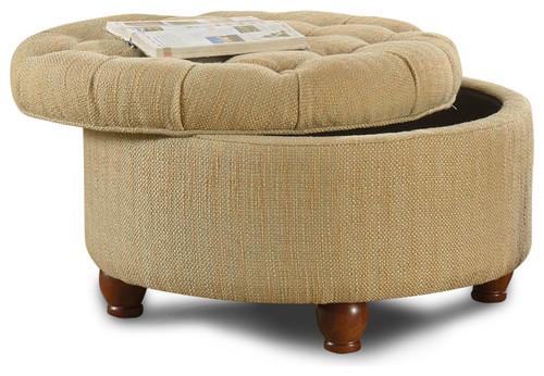 round upholstered storage ottoman 3
