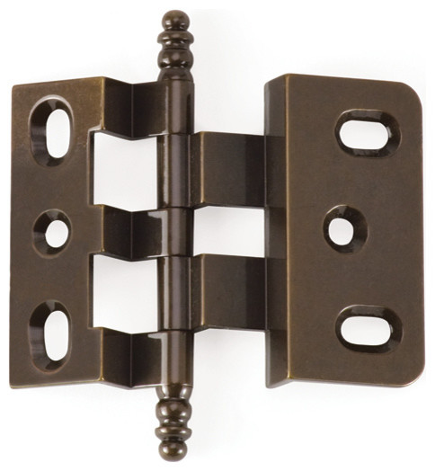 3-8-OFFSET-AB antique brass offset cabinet hinge - Traditional - Hinges - philadelphia - by ...