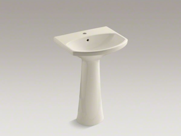 Single Hole Pedestal Sink : KOHLER Cimarron(R) pedestal bathroom sink with single faucet hole ...