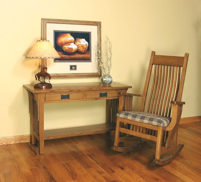 Houzz Foyer Furniture : Mission style white oak foyer furniture craftsman side