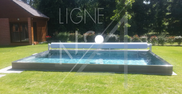 Piscine 6x4 semi enterr e contemporary other metro for Piscine haut de gamme