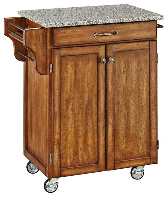 Kitchen Cart In Cottage Oak Finish Contemporary