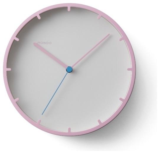 Mondo tick wanduhr pink moto design moderne horloge for Horloge murale moderne design