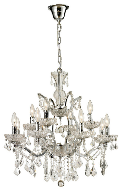 Chrome crystal chandelier small traditional chandeliers by cdi - Traditional crystal chandeliers ...