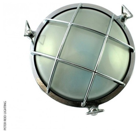 Small Exterior Wall Lights : Foresti + Suardi 2028B Small Round Bulkhead E27 industrial-outdoor-wall-lights
