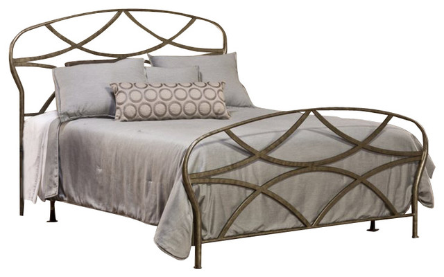 Brushed Nickel King Size Headboard: Hillsdale Landon Bed In Brushed Silver Finish-Queen