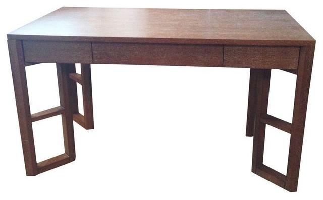 Bungalow 5 desk in cerused oak contemporary desks for Bungalow 5 desk