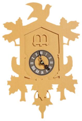 Cuckoo clock modern cuckoo clocks by fundeco llc - Contemporary cuckoo clock ...