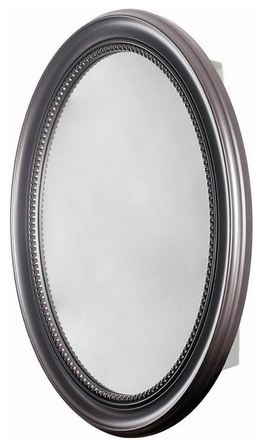 Pegasus 23-1/2, . x 29, . Recessed or Surface Mount Mirrored Cabinet, Espresso - Traditional ...