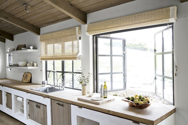 Smith and noble natural woven flat fold shades farmhouse for Natural woven flat fold shades