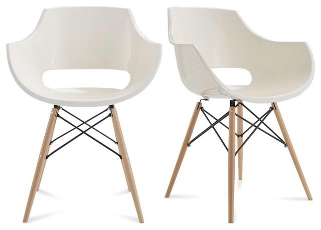 lot de 2 chaises design skoll couleur blanc scandinave fauteuil par. Black Bedroom Furniture Sets. Home Design Ideas