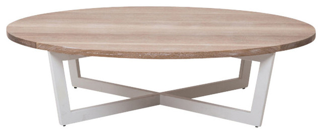 Essentials oval coffee table large contemporary coffee for Large contemporary coffee tables