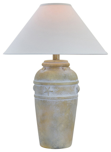 tulsa table lamp with shade light sand beach style. Black Bedroom Furniture Sets. Home Design Ideas