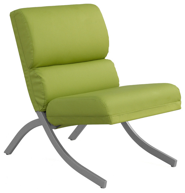 rialto lime green bonded leather chair contemporary armchairs and accent chairs by. Black Bedroom Furniture Sets. Home Design Ideas