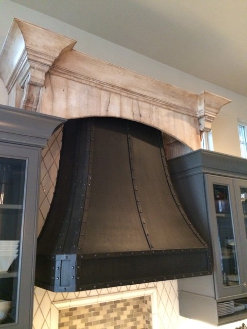 Kitchen Hood Steel Riveted Hood With Reclaimed