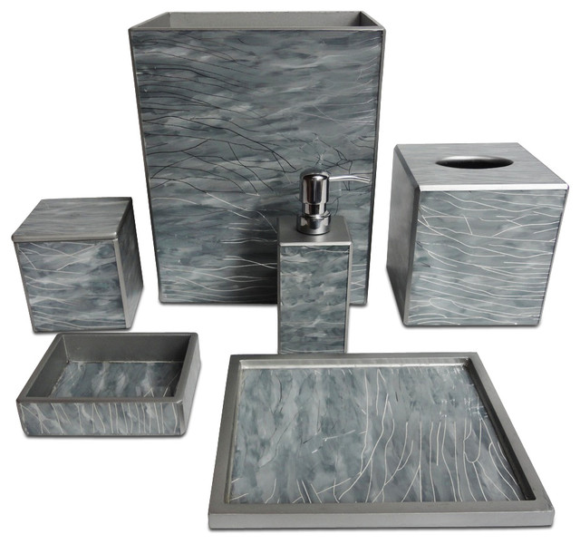 Bathroom accessories bathroom accessories chicago by for Grey bathroom accessories set