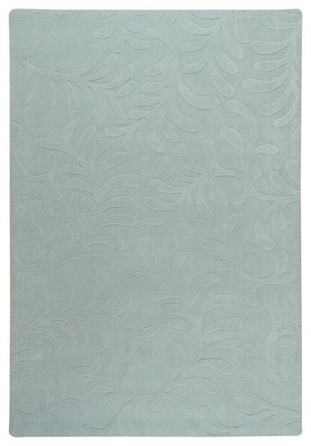 Surya Sculpture Hand Loomed Grey Wool Square Rug, 18u0026quot; x 18u0026quot; - Beach Style - Rugs - by Casa.com