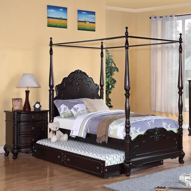 Homelegance Cinderella 2 Piece Canopy Poster Bedroom Set