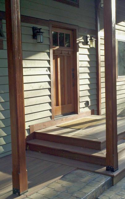 Smith mountain lake timber frame porch addition for Timber frame porch addition