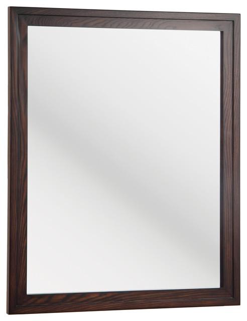Cornell Cherry Bathroom Mirror Contemporary Bathroom Mirrors By Burroughs Hardwoods Inc