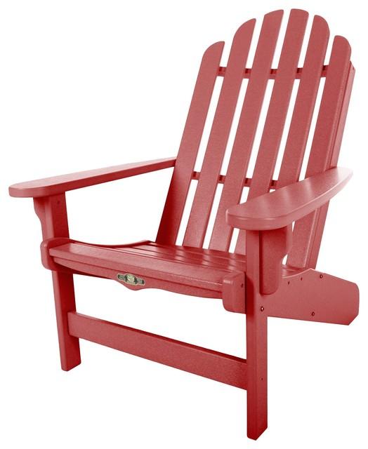 Pawleys Island Lifetime Essential Adirondack Chair Red