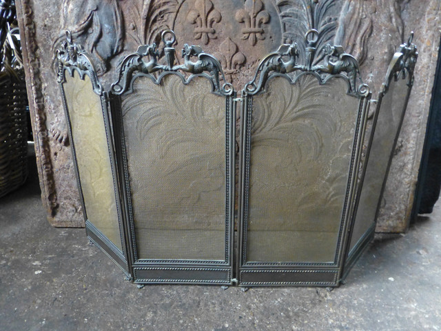 Antique French Fireplace Screen Traditional Fireplace Screens Other Metro By Charles