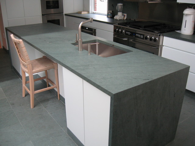 Kitchen Island Slate Countertop Slate Flooring Kitchen Countertops Other By Vermont