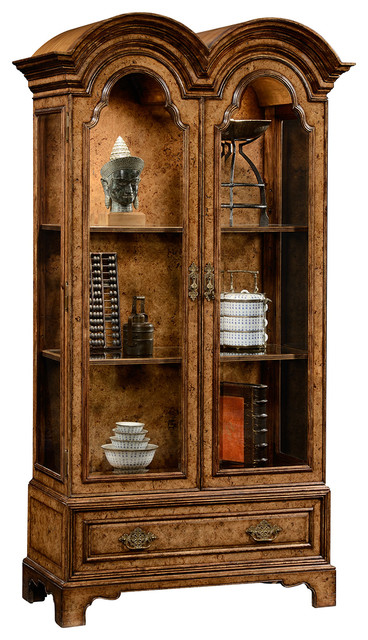 Jonathan Charles Queen Anne Pollard Veneer Bookcase 494485 - Traditional - Bookcases - by ...
