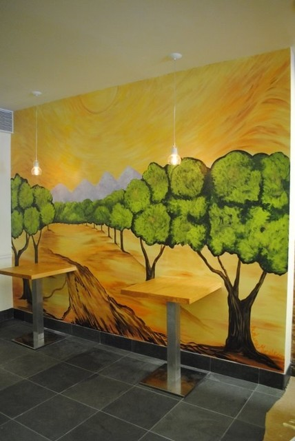 Kitchen mural traditional new york by arlene for Cypress gardens mural