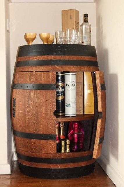 Wine barrel drinks cabinet arts crafts drinks for Arts and crafts wine rack