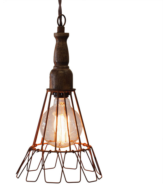 Wire Cage Pendant Lights