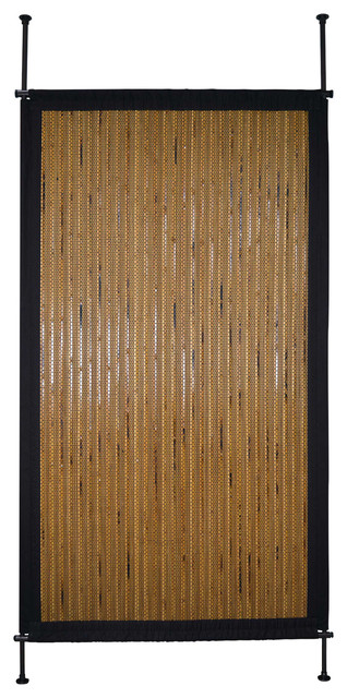 38 x68 bamboo privacy panel honey tropical screens for Hanging bamboo privacy screen