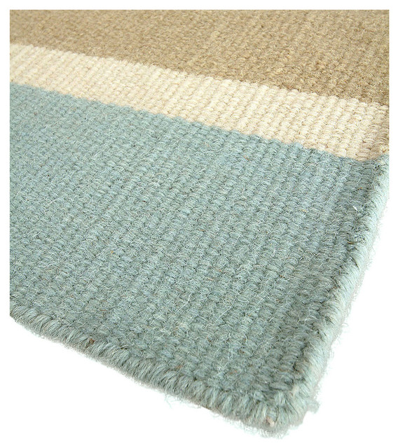 Cape fear wool berber stripe rug 3 39 x5 39 transitional for Wool berber area rug