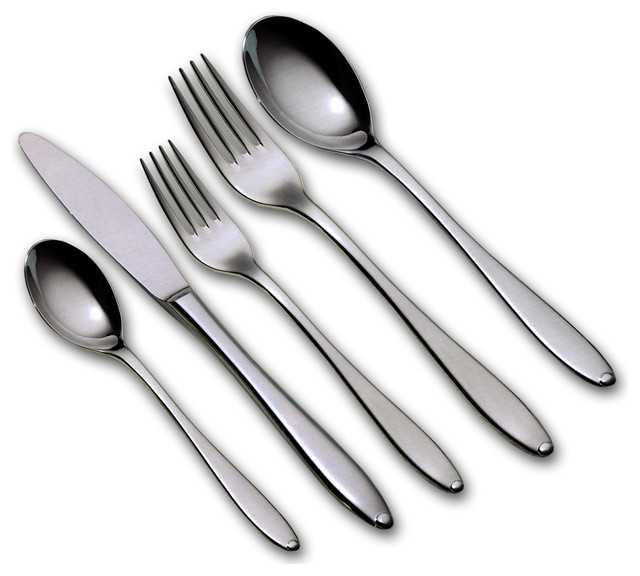 Alpha 20 Piece Flatware Set Modern Flatware And Silverware Sets