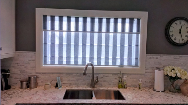 Roman shades modern kitchen toronto by rescom designs for Kitchen roman blinds contemporary