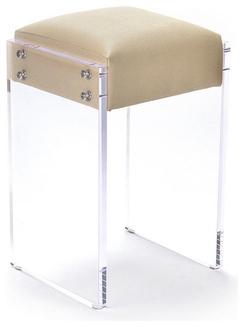 Acrylic Counter Stool Transitional Bar Stools And