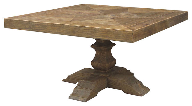 English castle trestle square table 55 traditional for Traditional dining table uk
