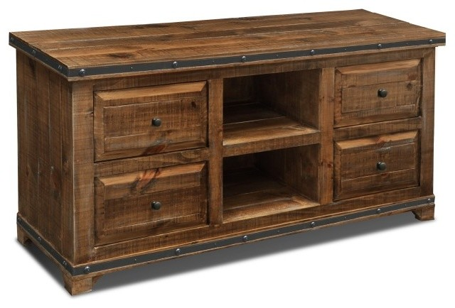 Douglas Reclaimed Wood Credenza - Rustic - Entertainment Centers And Tv Stands - by Crafters and ...
