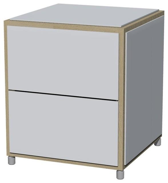 add h2 nachttisch mit schubladen moderne table de chevet et table de nuit par. Black Bedroom Furniture Sets. Home Design Ideas