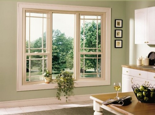 Beige Tan Almond Vinyl Windows