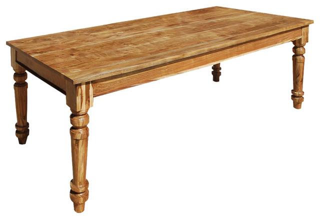 Oklahoma farmhouse dining table acacia wood traditional for Traditional dining table uk