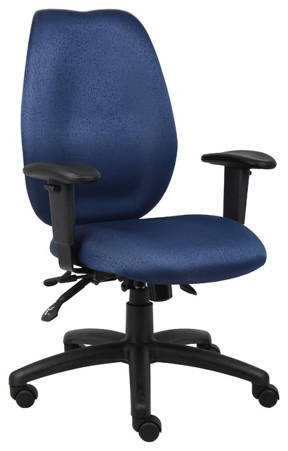 Chair blue contemporary office chairs by boss office products