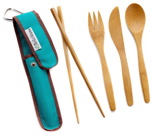 To Go Ware Bamboo Utensil Set Contemporary Flatware