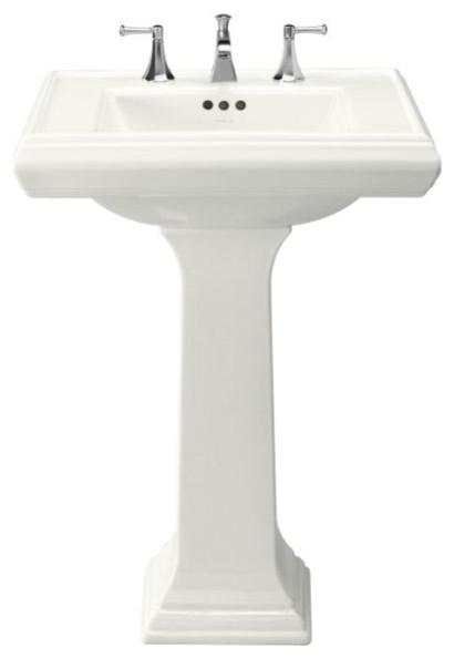 Kohler Small Pedestal Sink : Kohler Memoirs Pedestal Lavatory With 8